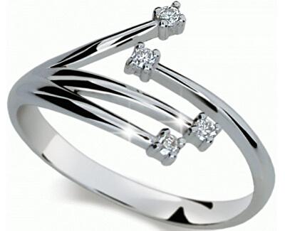 Danfil Zlatý prsteň s diamantmi DF2063b