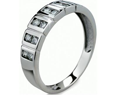 Luxusní zlatý prsten s diamanty DF2079b