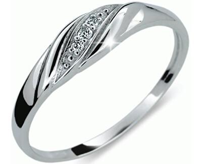 Jemný diamantový prsten DF2084b