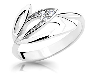 Něžný prsten s diamanty DF2231b