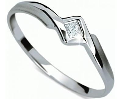 Jemný zásnubní prsten DF1113b