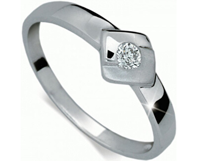 Zlatý zásnubní prsten s diamantem DF1241b