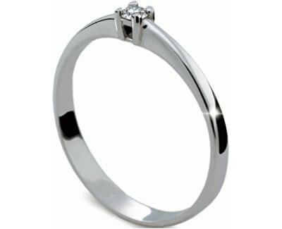 Jemný zásnubní prsten DF1904b