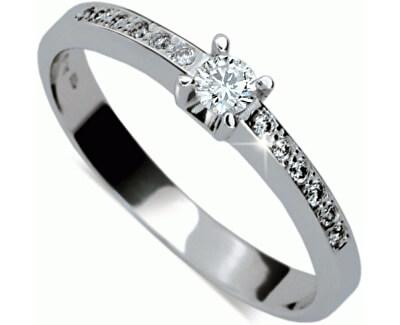 Danfil Krásný zásnubní prsten s diamanty DF1917b