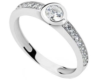 Jemný prsten se zirkony DLR2357b