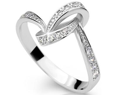 Nádherný prsten se zirkony DLR2324b