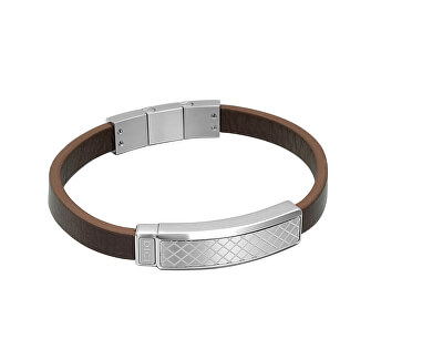 Dici Milano Vzorovaný kožený náramek DCBR50150100