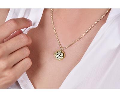 Pozlacený náhrdelník s oboustranným přívěskem Spinner Token New York 5520023