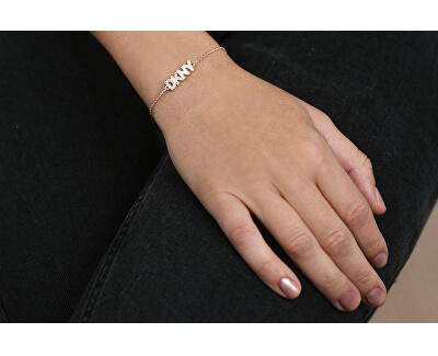 Růžově pozlacený náramek s logem Pendant New York 5519999