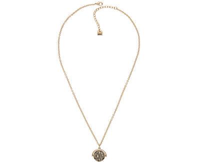 Pozlacený náhrdelník s oboustranným přívěskem Spinner Token 5520023