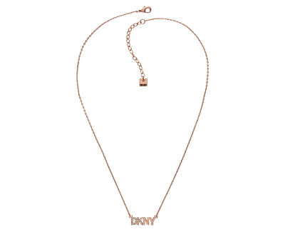 Růžově pozlacený náhrdelník s logem Pendant New York 5519996