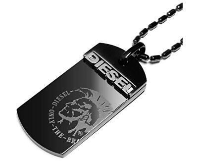 Černý pánský náhrdelník DX0004040