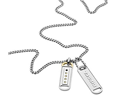 Pánsky náhrdelník s príveskami DX1213040