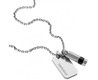 Pánsky náhrdelník s príveskami DX1156040