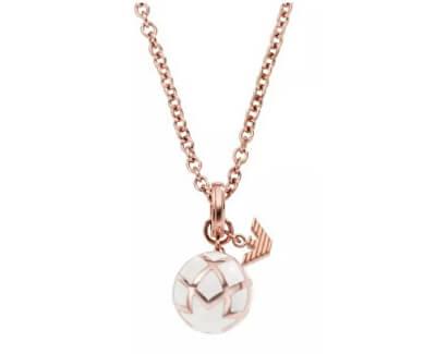 Pozlátený oceľový náhrdelník s príveskom EG3196710
