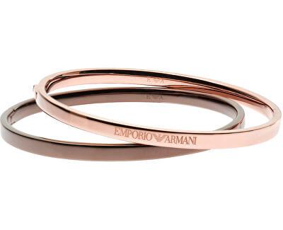 Emporio Armani Sada dvou ocelových náramků EGS1777221