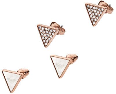 Emporio Armani Sada trojúhelníkových náušnic EGS2367221