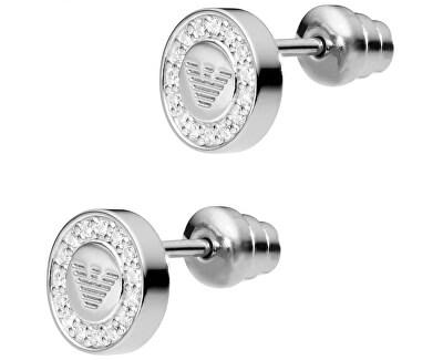 Stříbrné náušnice s krystaly EG3053040