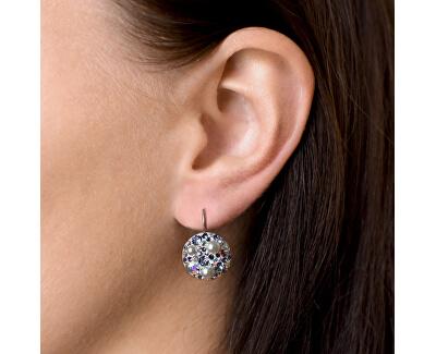 Stříbrné náušnice s krystaly 31183.9 tanzanite AB