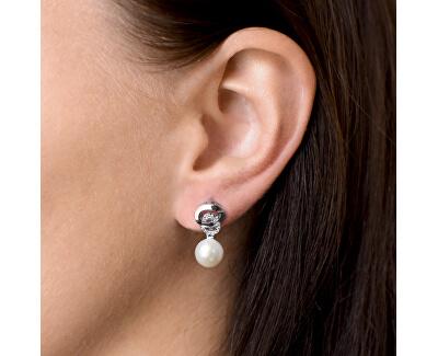 Stříbrné náušnice s pravými perlami Pavona 21026.1
