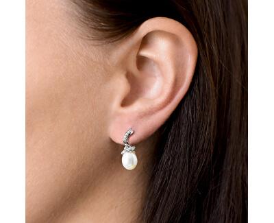 Stříbrné náušnice s pravými perlami Pavona 21035.1