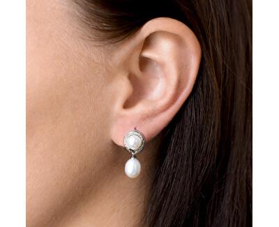 Stříbrné náušnice s pravými perlami Pavona 21039.1