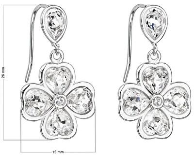 Cercei din argint cu zirconiu Trifoi 31262.1