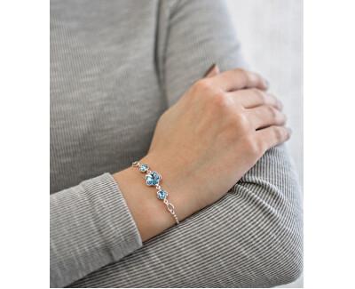Brățară din argint cu cristale Swarovski Blue 33112.3