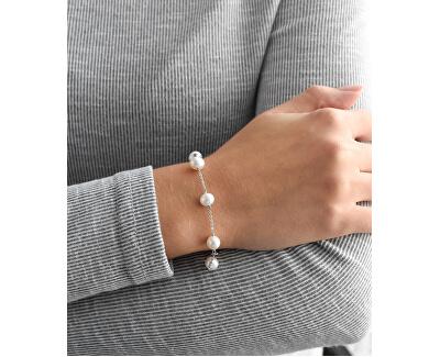 Stříbrný náramek s pravými perlami Pavona 23008.1