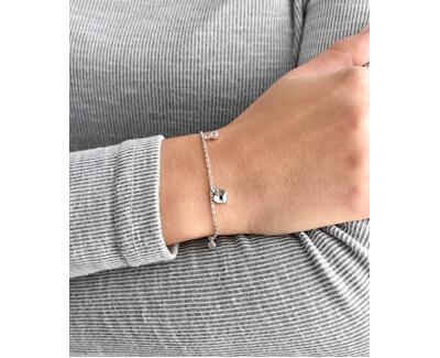 Brățară din argint cu pandantive si cristale Swarovski 33114.1