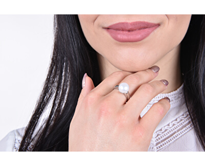 Stříbrný perlový prsten Pavona 25001.1