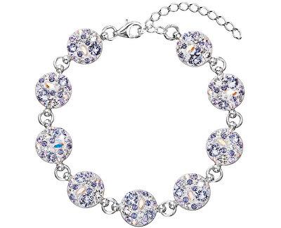 Evolution Group Luxusní náramek s krystaly Violet 33048.3