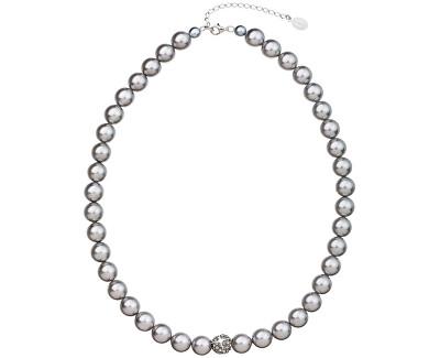 Perlový náhrdelník 32011.3 light grey