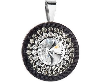 Překrásný stříbrný přívěsek 34207.3 crystal+jet