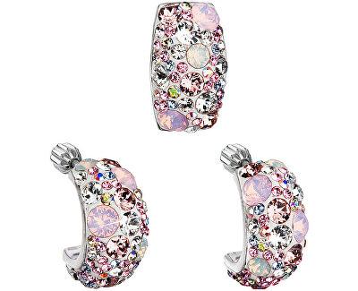 Romantická sada šperkov Magic Rose 39116.3 (náušnice, prívesok)