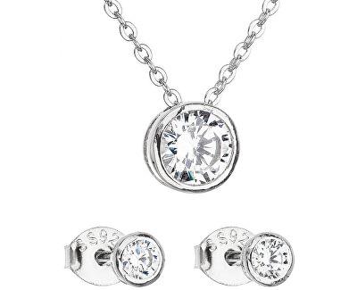 Sada šperků se zirkonem náušnice a náhrdelník 19007.1