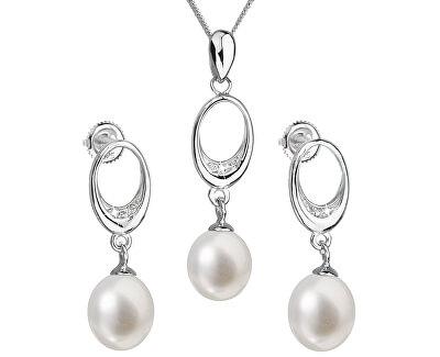 Souprava stříbrných šperků s pravými perlami Pavona 29040.1