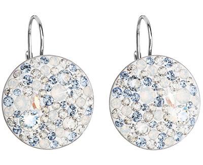 Cercei din argint cu cristale 31161.3 Light Sapphire