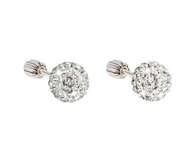 Stříbrné náušnice s krystaly 731111.1