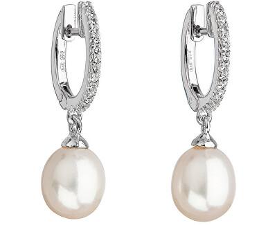 Evolution Group Stříbrné perlové náušnice 21002.1