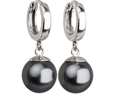 Evolution Group Stříbrné náušnice s perlou 31151.3 grey