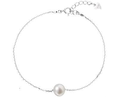 Evolution Group Stříbrný náramek s pravou perlou 23009.1