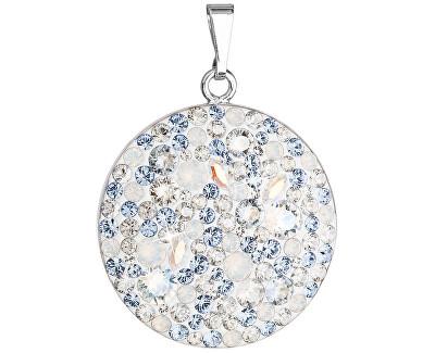 Pandantiv din argint cu cristale Swarovski 34131.3Light Sapphire