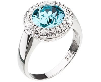Inel din argint cu cristal albastru Swarovski 35026.3