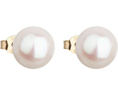 Zlaté náušnice pecky s pravými perlami Pavona 921043.1