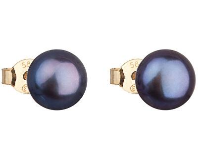 Zlaté náušnice pecky s pravými perlami Pavona 921042.3 peacock