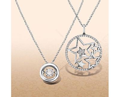 Stříbrný náhrdelník Hvězdy se zirkony ERN-STARS-ZI