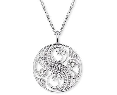 Stříbrný náhrdelník Balance se zirkony ERN-BALANCE-ZI