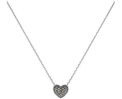Stříbrný náhrdelník Srdce s markazity ERN-HEART-MA