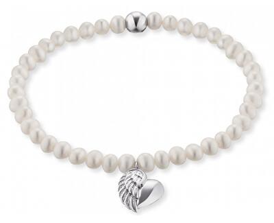 Perlový náramek Srdce s andělským křídlem ERB-HEARTWINGPE